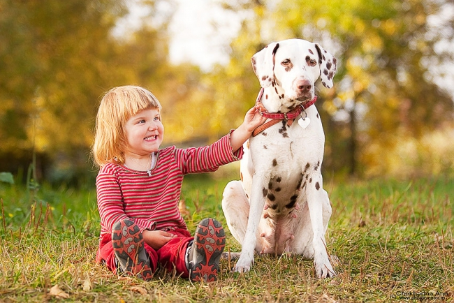 Собака и ребенок - отличная пара!