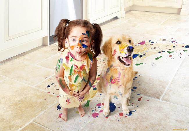 Собака может стать отличным другом для ребенка